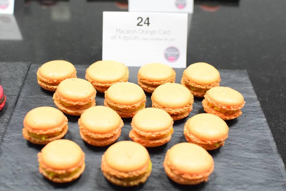 macaron orange curd SANS LAIT et SANS GLUTEN